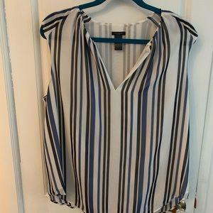Ann taylor stripped dress shirt